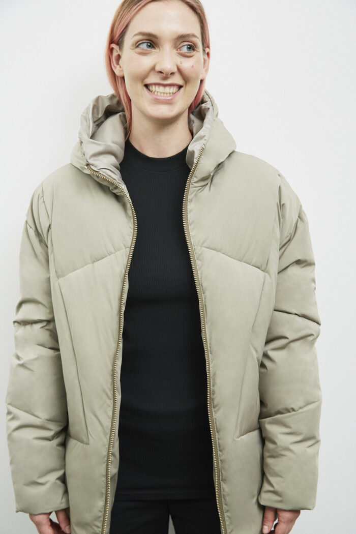 Bray Down Jacket, Pale Olive - 193 - Embassy of Bricks and Logs - Anna Vatheuer Photo - Premium Ethical Outerwear