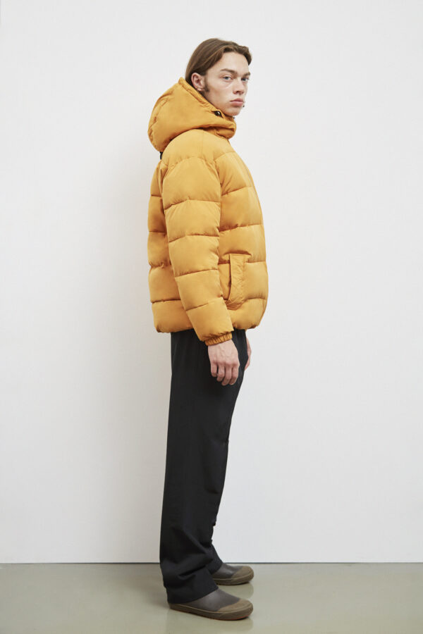 Brevik Down Jacket, Inca Gold - 193 - Embassy of Bricks and Logs - Anna Vatheuer Photo - Premium Ethical Outerwear