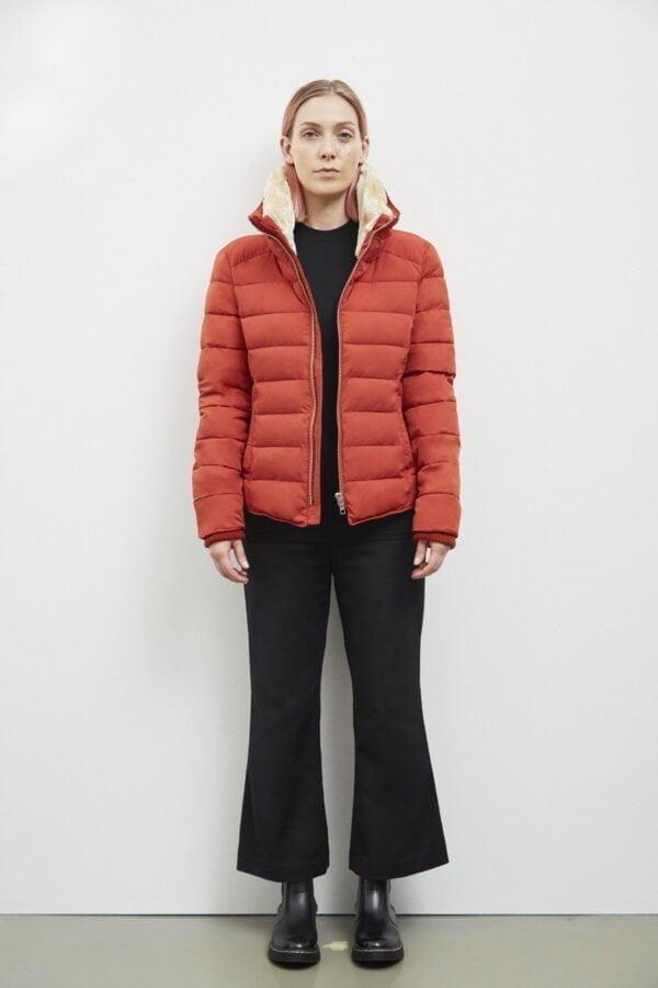 Hamilton Down Jacket, Dark Rust - 193 - Embassy of Bricks and Logs - Anna Vatheuer Photo - Premium Ethical Outerwear