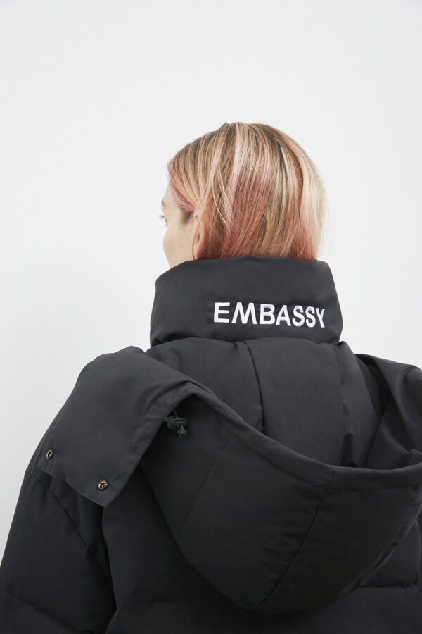 Livingston Down Jacket, Black - 193 - Embassy of Bricks and Logs - Anna Vatheuer Photo - Premium Ethical Outerwear