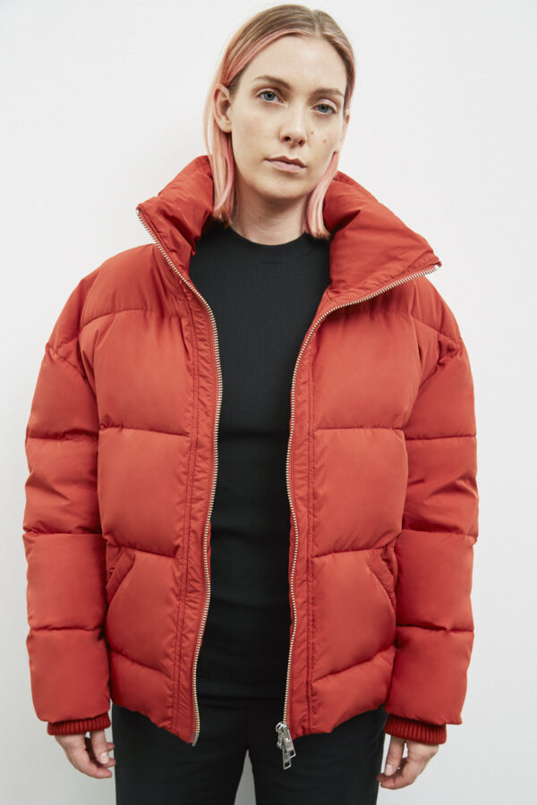 Manitoba Down Jacket, Dark Rust - 193 - Embassy of Bricks and Logs - Anna Vatheuer Photo - Premium Ethical Outerwear
