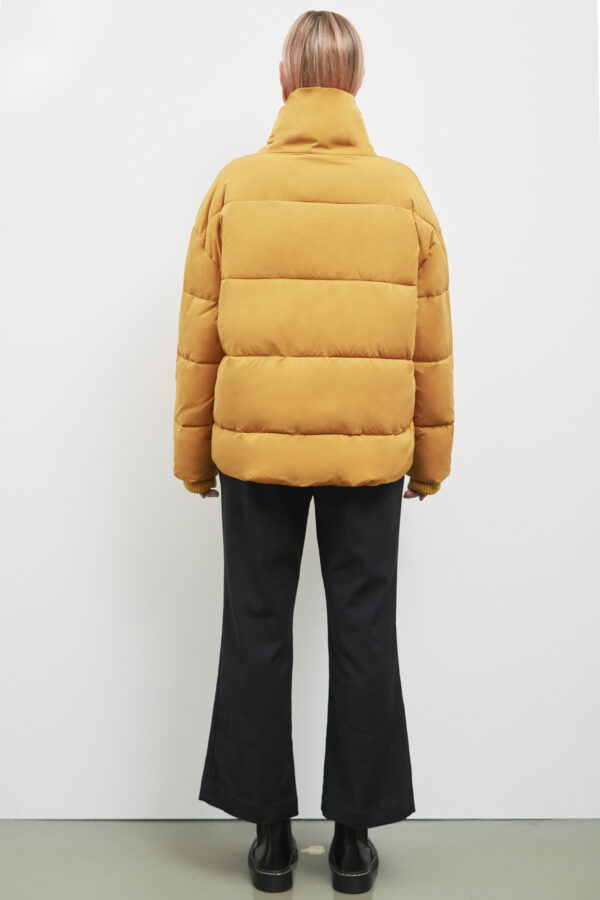 Manitoba Down Jacket, Inca Gold - 193 - Embassy of Bricks and Logs - Anna Vatheuer Photo - Premium Ethical Outerwear