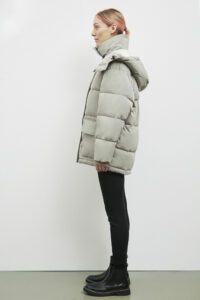 Sligo Down Parka, Pale Olive - 193 - Embassy of Bricks and Logs - Anna Vatheuer Photo - Premium Ethical Outerwear