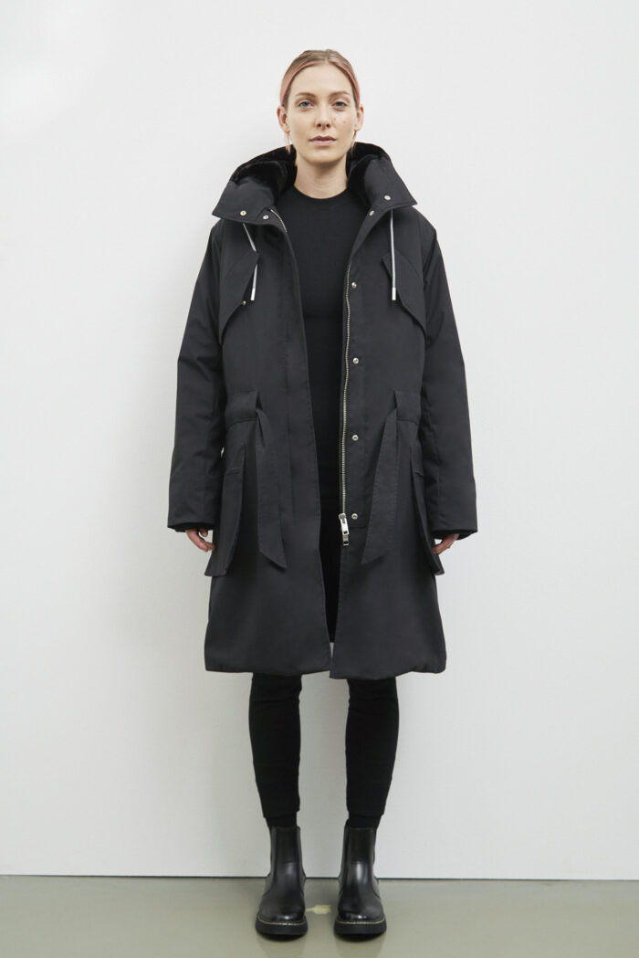 Trafford Parka, Black - 193 - Embassy of Bricks and Logs - Anna Vatheuer Photo - Premium Ethical Outerwear