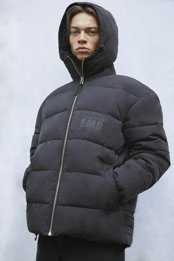 Brevik 36 Puffer Jacket, Black - 193 - Embassy of Bricks and Logs - Anna Vatheuer Photo - Premium Ethical Outerwear