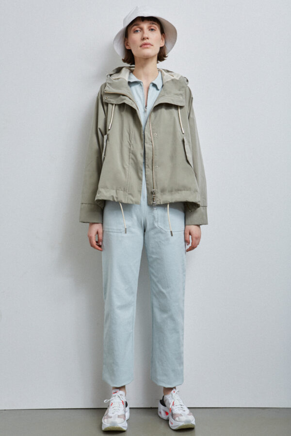 Nelson Jacket ,Pale Olive - 201 - Embassy of Bricks and Logs - Anna Vatheuer Photo - Premium Ethical Outerwear