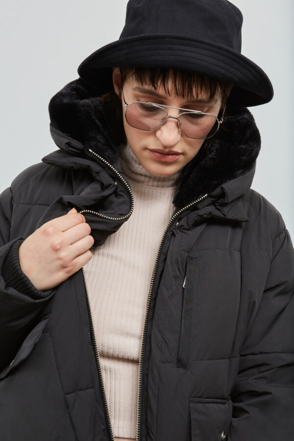 Lyndon Down Jacket in Black from Embassy of Bricks and Logs - Premium Ethical Outerwear