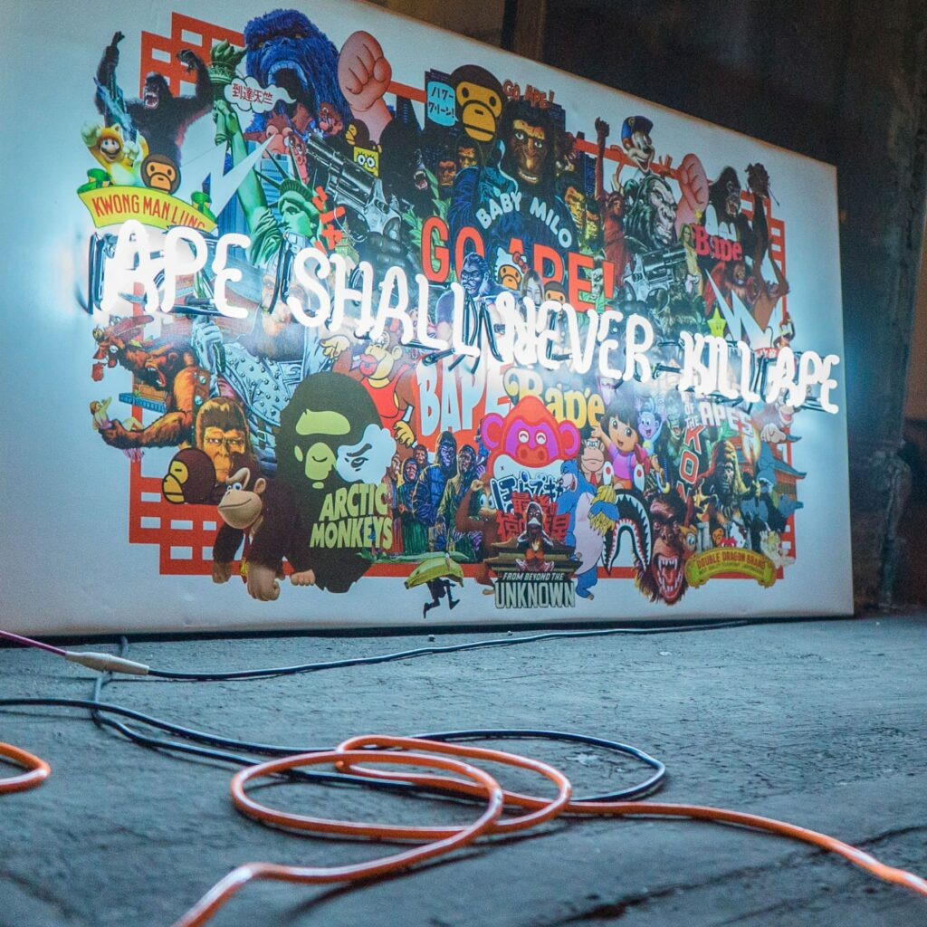 ape shall never kill ape - you know me well for embassy of bricks and logs - shanghai berlin - artwork