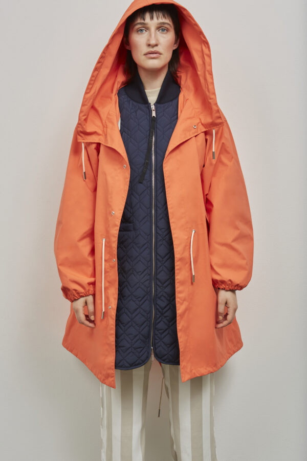 Embassy of Bricks and Logs Bundabeg Coat in Mandarin - Vegan Ethical Outerwear