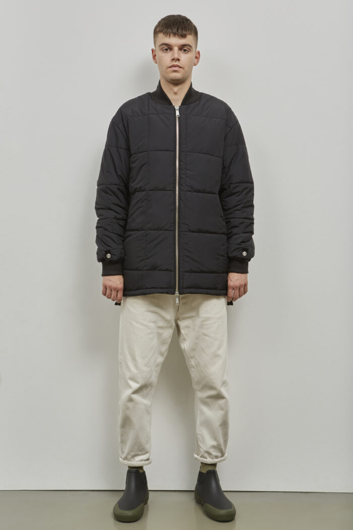 Embassy of Bricks and Logs Sudbury Inzip in Black Olive - Vegan Ethical Outerwear