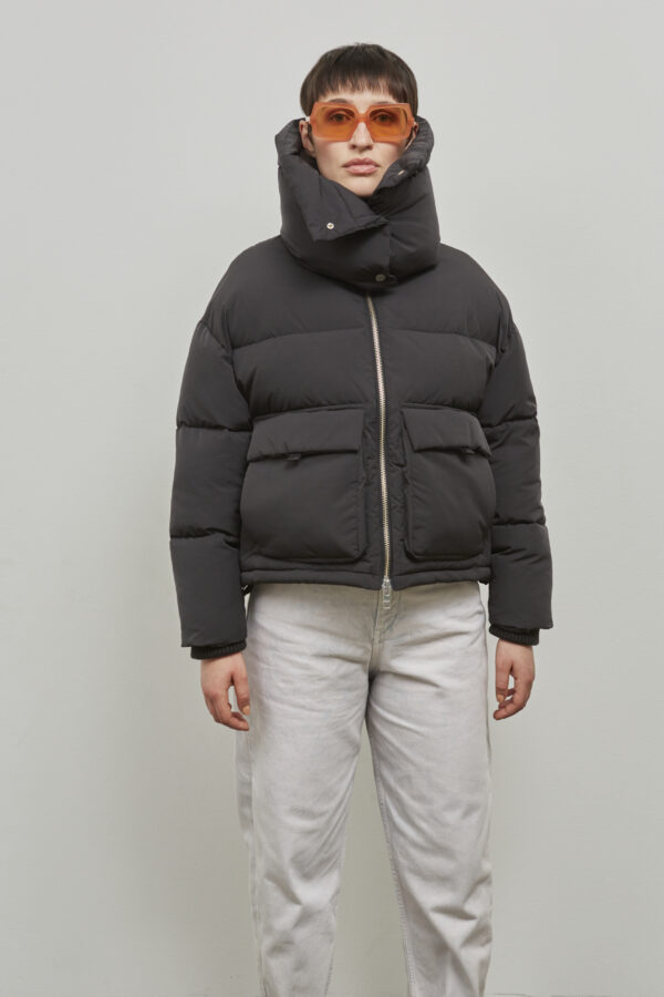 Embassy of Bricks and Logs Montral Puffer Jacket in Black - Vegan Ethical Outerwear
