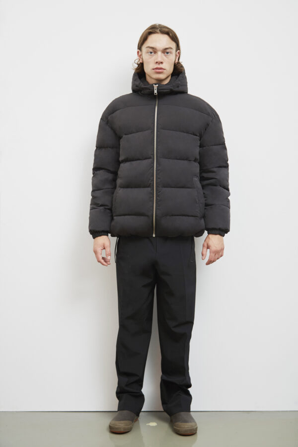 Embassy of Bricks and Logs Brevik Puffer Coat in Black - Vegan Ethical Outerwear