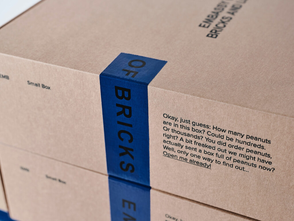 Sustainable Eco Packaging - 2020 - Embassy of Bricks and Logs - Premium Ethical Outerwear