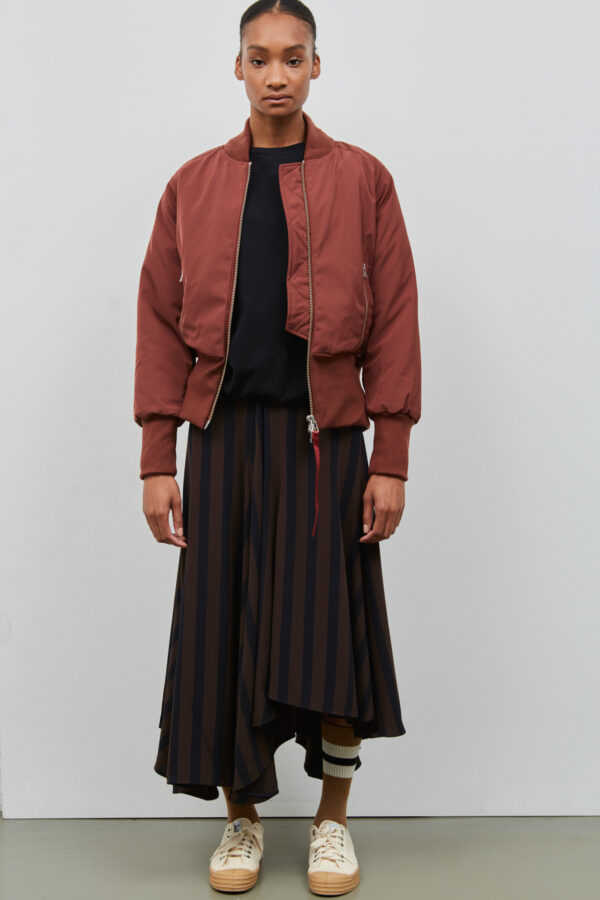 Embassy of Bricks and Logs Victoria Bomber in Burgundy - Vegan Ethical Outerwear