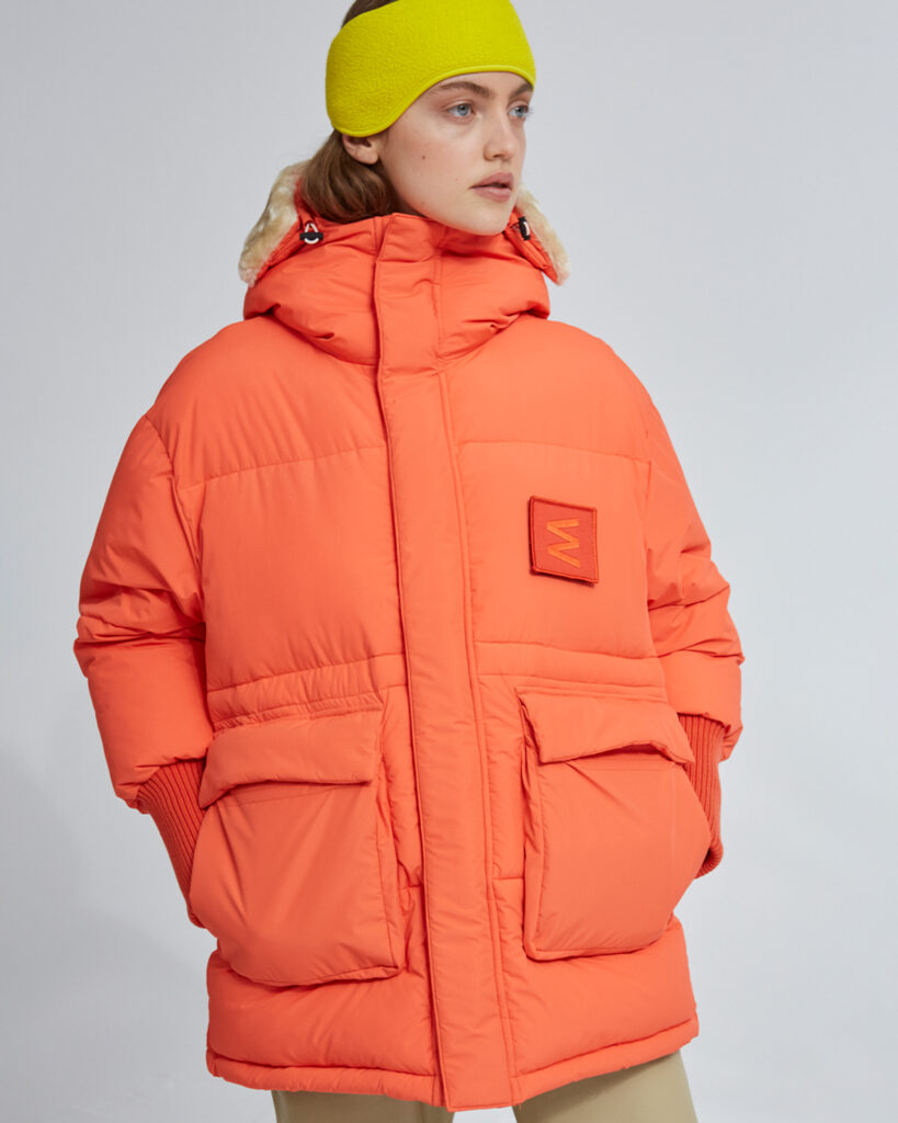 Embassy of Bricks and Logs Hallifax Puffer Parka in Mandarin - Vegan Ethical Outerwear