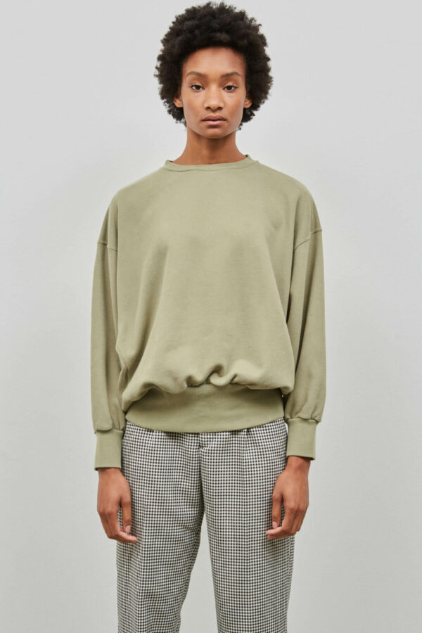 Basic Crewneck in Pale Olive - Embassy of Bricks and Logs - Vegan Ethical Outerwear