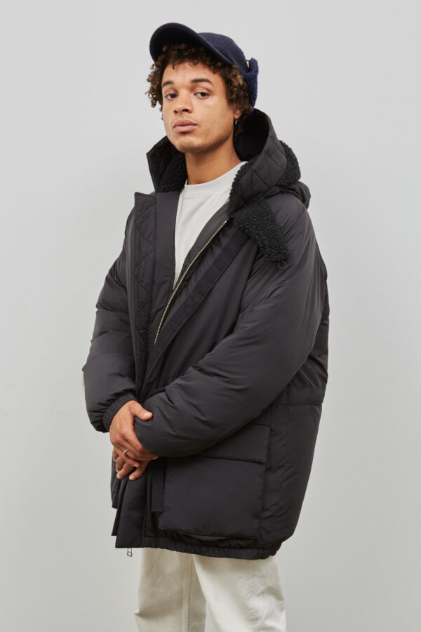 Addison Puffer Parka in Black - Embassy of Bricks and Logs - FW203 - Vegan Ethical Outerwear
