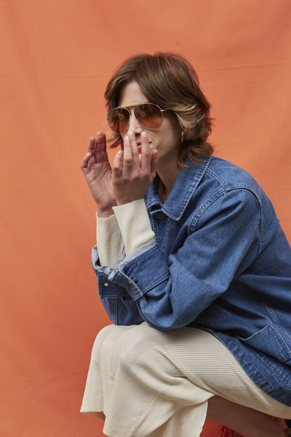 Linsell Denim Jacket in Light Blue - Embassy of Bricks and Logs - SS211 - Vegan Ethical Outerwear