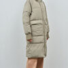 Belfast Puffer Parka Pale Olive Embassy of Bricks and Logs - Vegan Ethical Outerwear