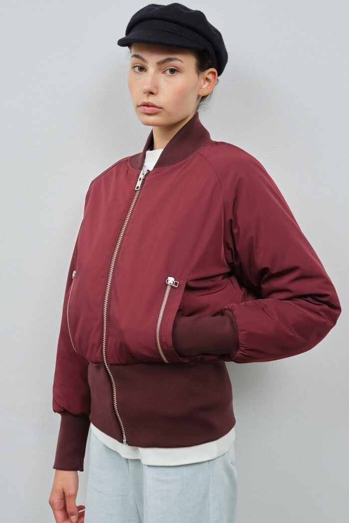 Victoria Bomber Burgundy Embassy of Bricks and Logs - Vegan Ethical Outerwear